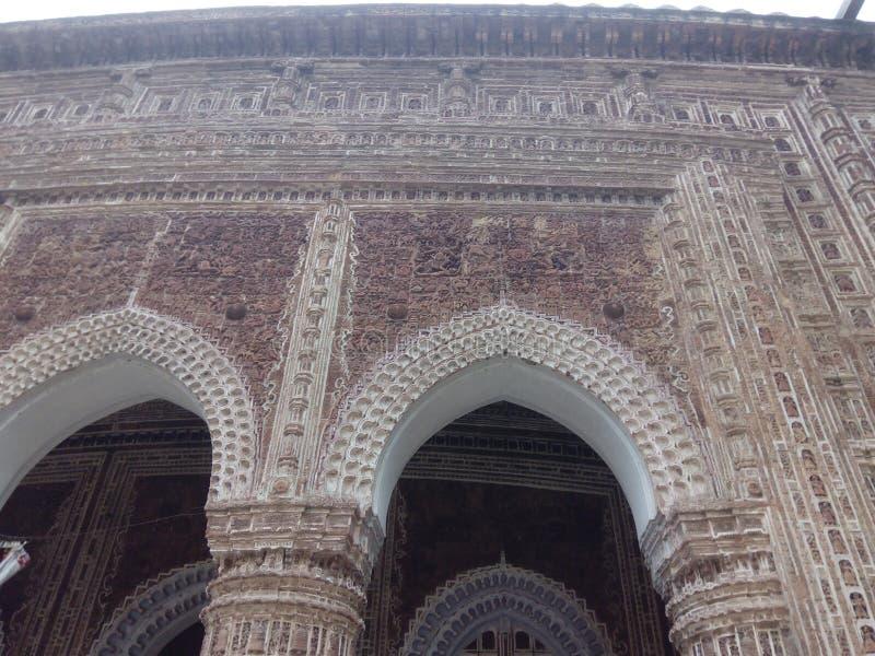 Templo de Kantanagar com século XVIII Bangladesh do projeto da terracota imagem de stock royalty free