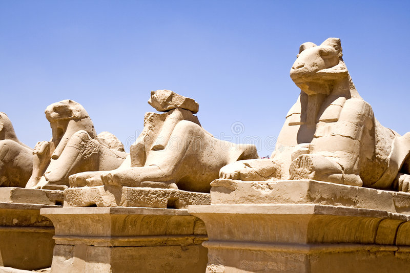 Templo de Karnak imagen de archivo