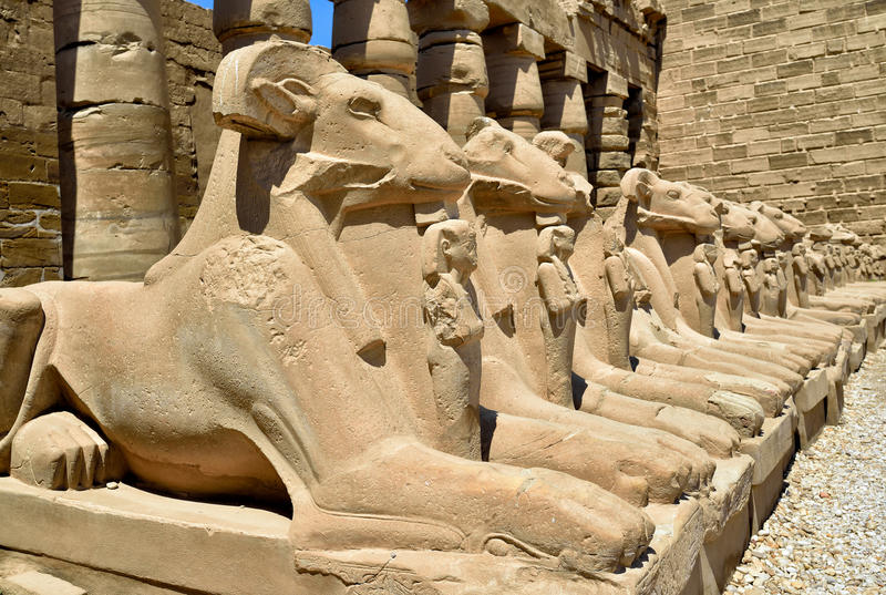 Templo de Karnak em Egipto imagens de stock