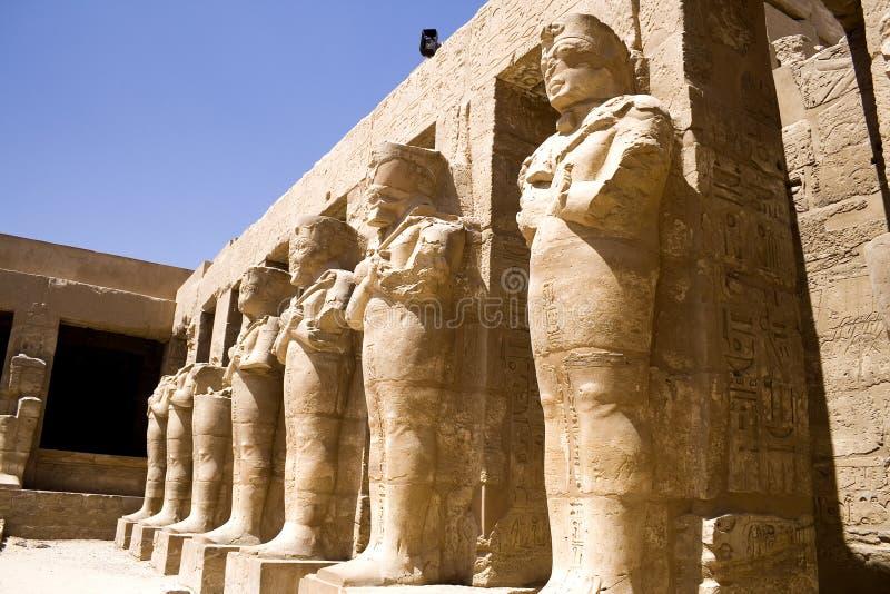 Templo de Karnak em Egipto fotografia de stock