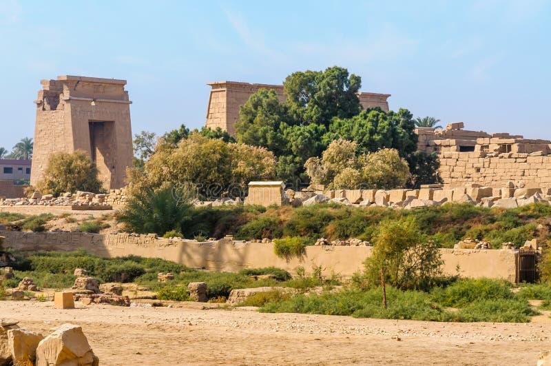 Templo de Karnak em Luxor, Egipto. fotografia de stock