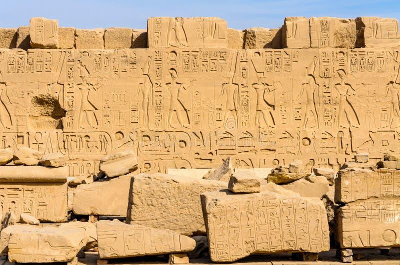 Templo de Karnak em Luxor, Egipto. imagem de stock