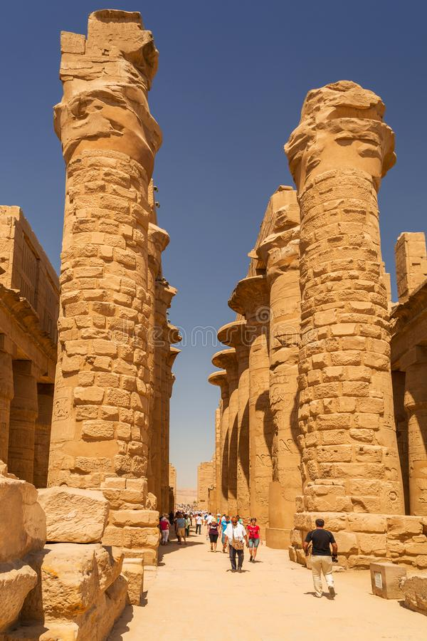 Templo de Karnak de Luxor, Egito imagens de stock royalty free