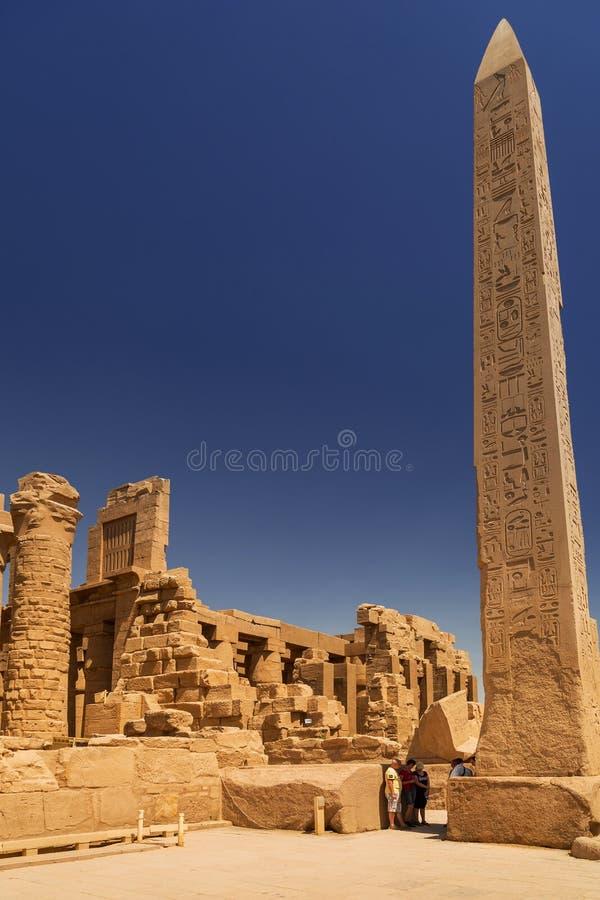 Templo de Karnak de Luxor, Egito fotografia de stock