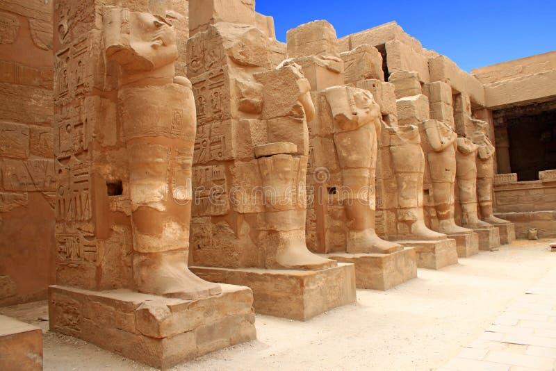 Templo de Karnak (Thebes) en Luxor Egipto fotografía de archivo libre de regalías