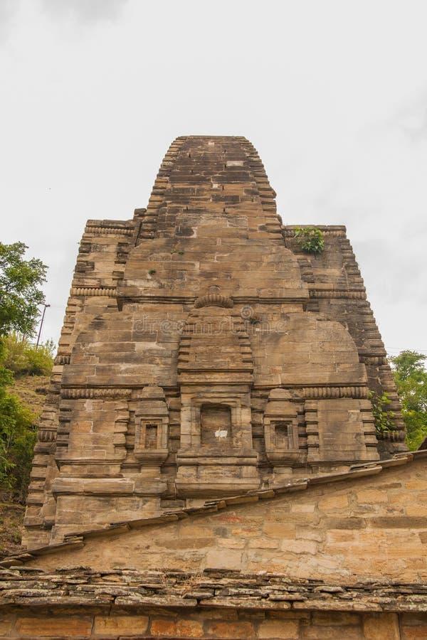 Templo de Katarmal Sun, perto de Almora imagem de stock