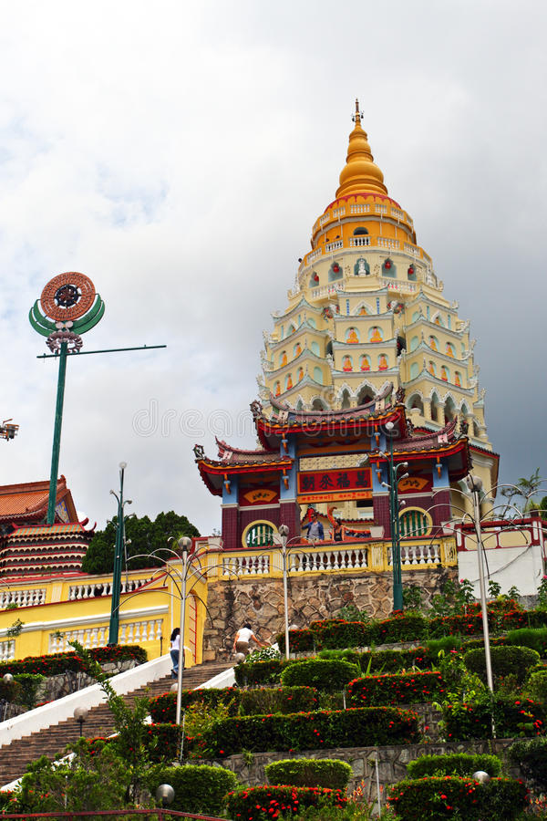 Templo de Kek Lok Si, Penang, Malaysia imagem de stock royalty free