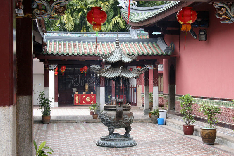 Templo de Keng del vino del Rin de Thian imagen de archivo