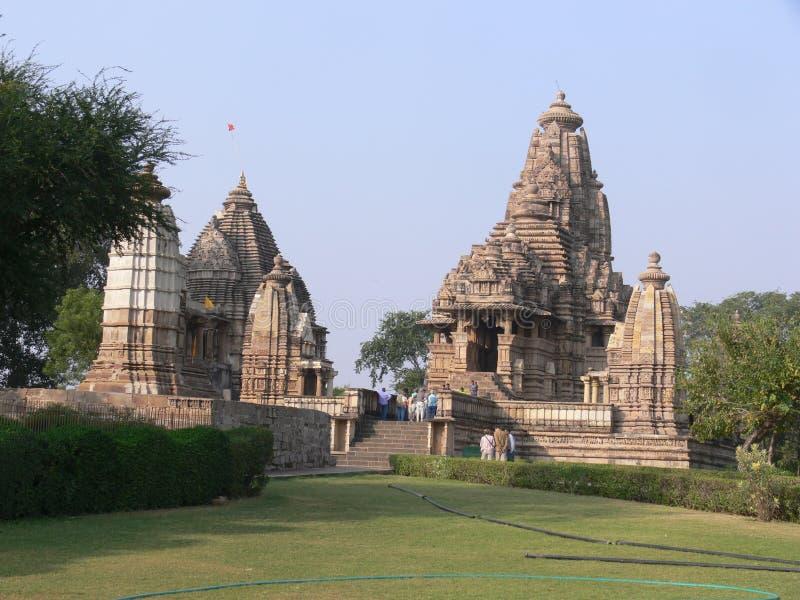 Templo de Khajuraho fotografia de stock