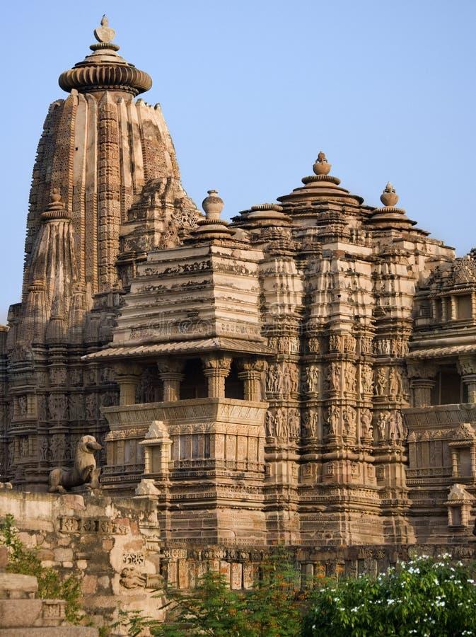 Templo de Khajuraho - de Kandariya Mahadev - la India imagen de archivo