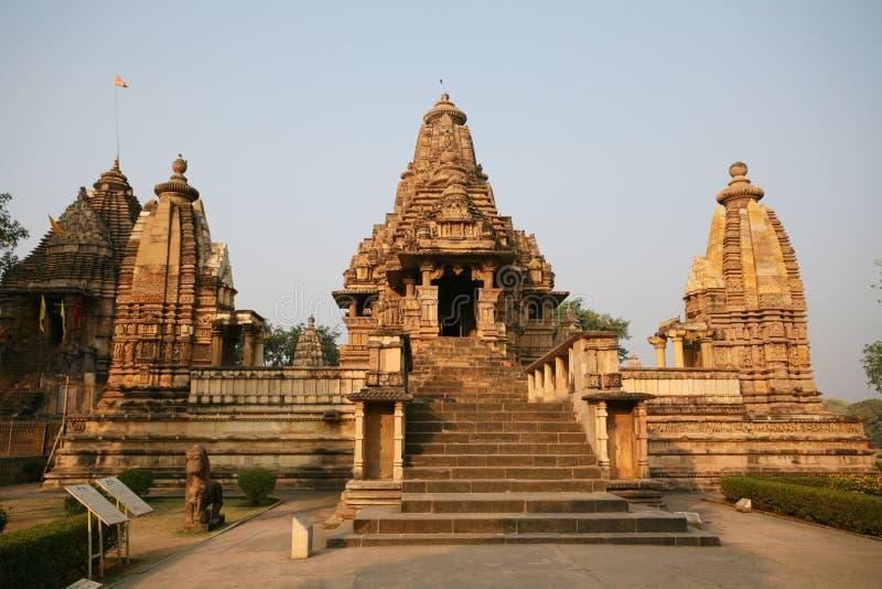 Templo de Khajuraho de las ruinas, la India fotos de archivo libres de regalías