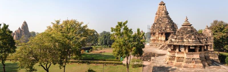 Templo de Khajuraho na Índia fotos de stock