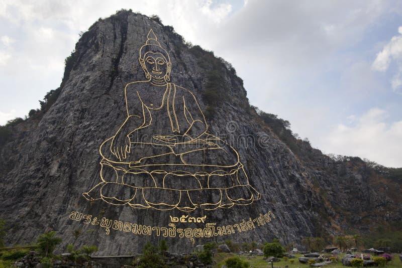 Templo de Khao Cheejan da montanha de Buddha em Pattaya fotos de stock