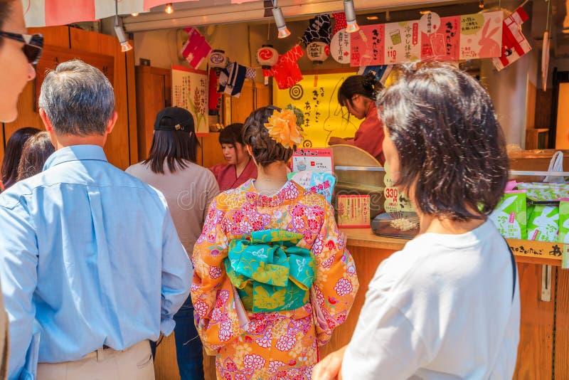 Templo de Kibidango Senso-ji fotografia de stock