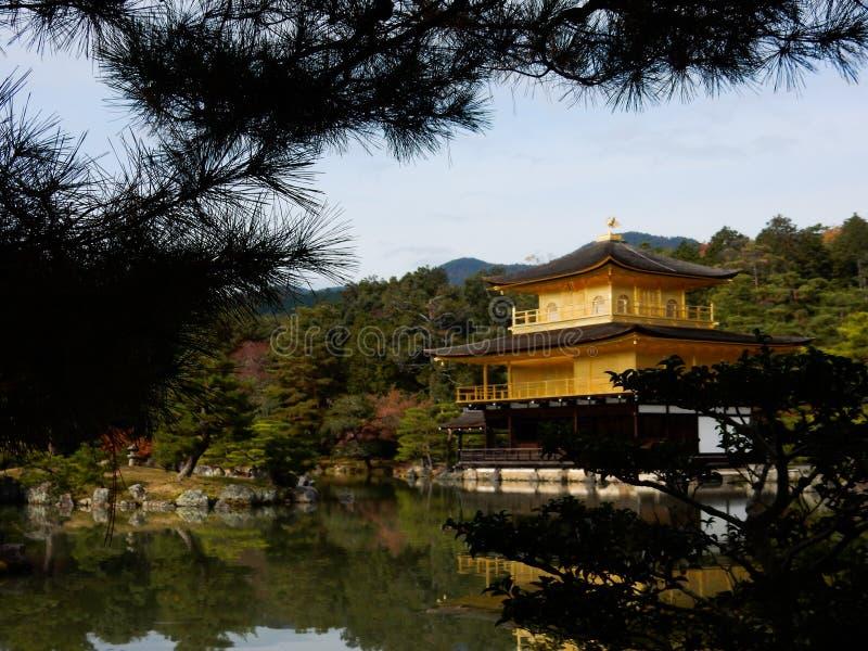 Templo de Kinkaku-Ji fotografia de stock royalty free