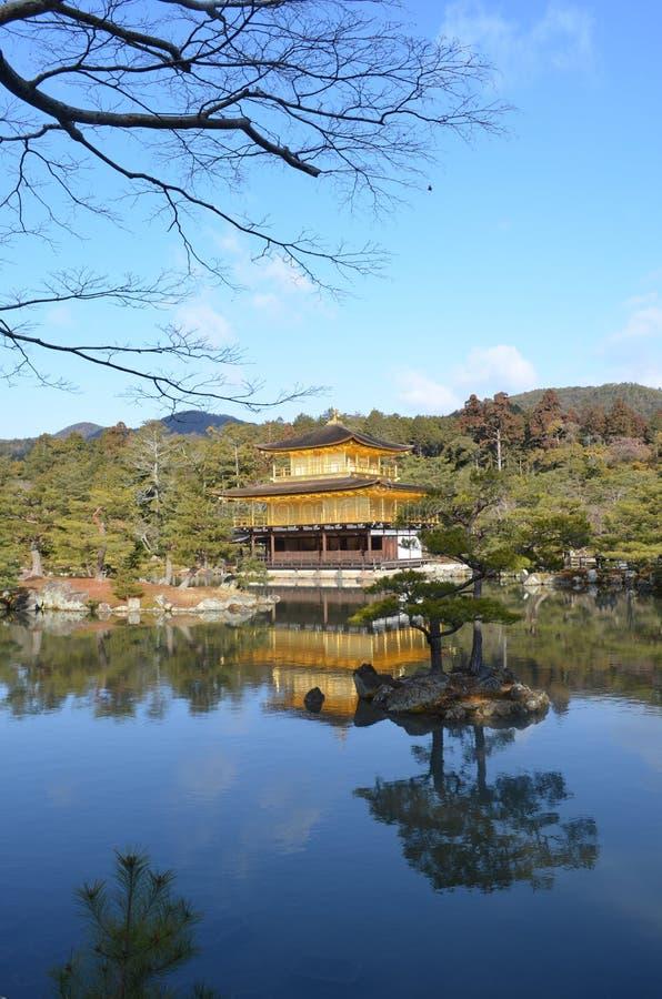 Templo de Kinkaku-Ji imagen de archivo