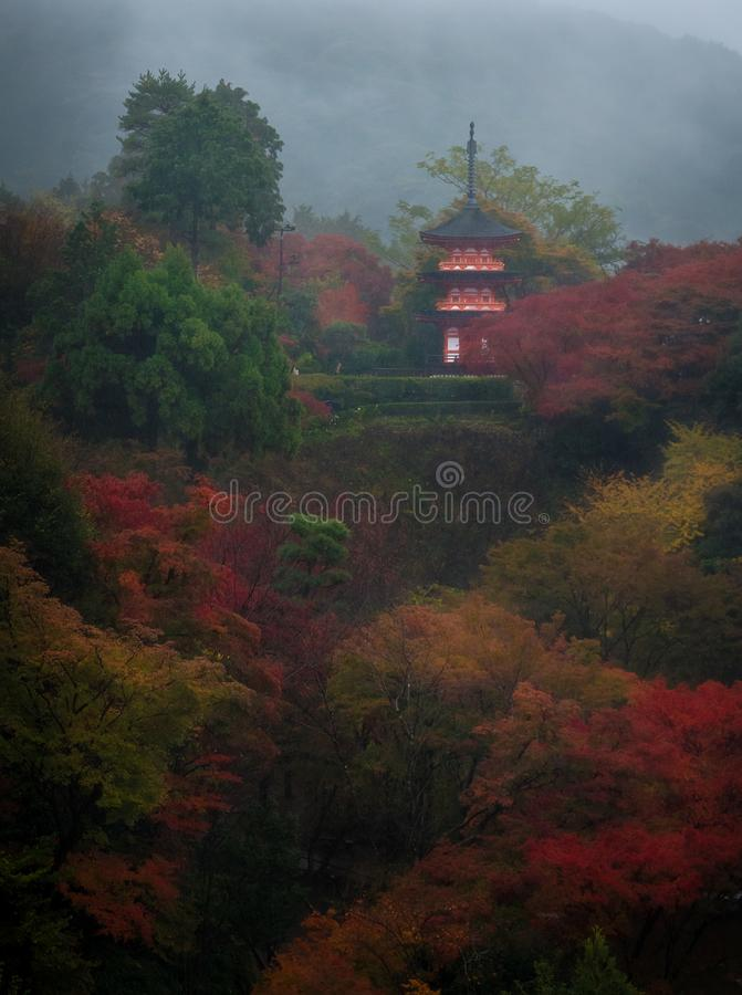 Templo de Kiyomizudera, Kyoto, Japão imagens de stock royalty free