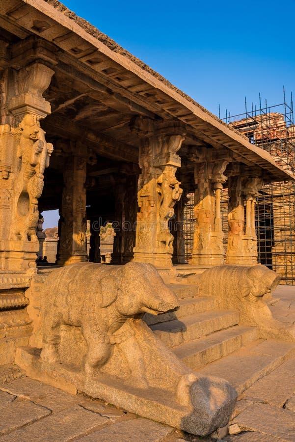 Templo de Krishna en Hampi fotos de archivo libres de regalías