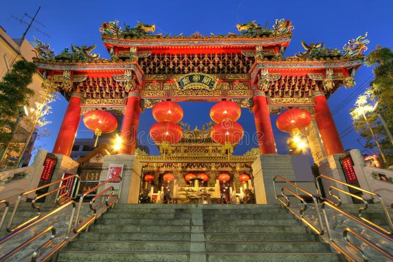Templo de Kwan TAI, Yokohama Chinatown, Japão fotografia de stock
