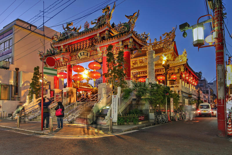 Templo de Kwan TAI, Yokohama, Japão fotos de stock royalty free