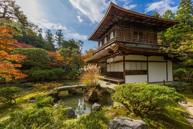 Templo de Kyoto Ginkakuji foto de stock royalty free