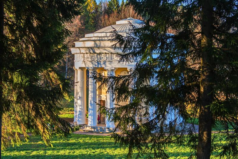 Templo de la amistad en el estilo clásico del arquitecto Cameron foto de archivo libre de regalías