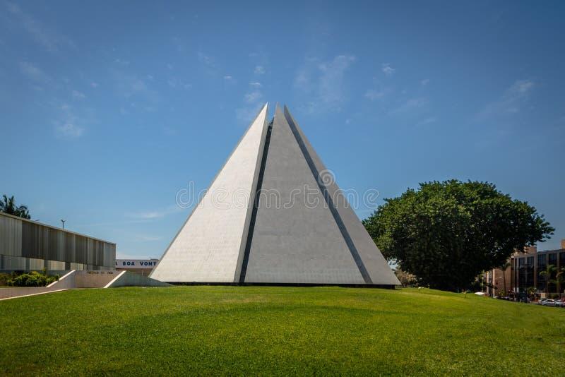 Templo de la boa Vontade - Brasilia, Distrito federal, el Brasil de Templo DA de la voluntad imagenes de archivo