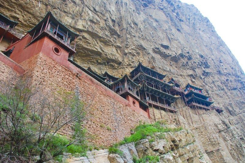 Templo de la cara del acantilado de China fotografía de archivo