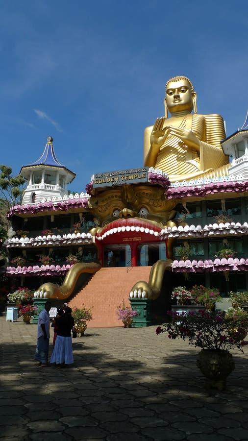 Templo de la cueva de Dambulla en Sri Lanka fotografía de archivo libre de regalías