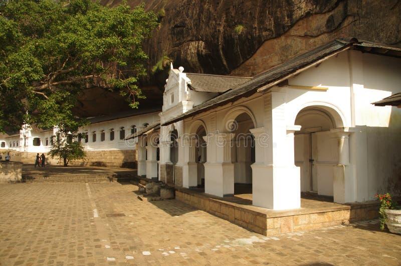 Templo de la cueva de Dambulla, Sri Lanka foto de archivo libre de regalías