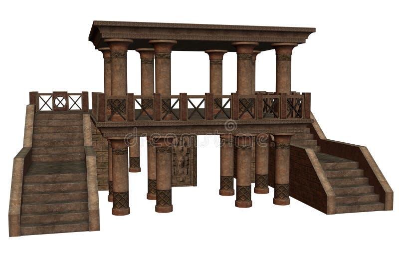 Templo de la fantasía stock de ilustración