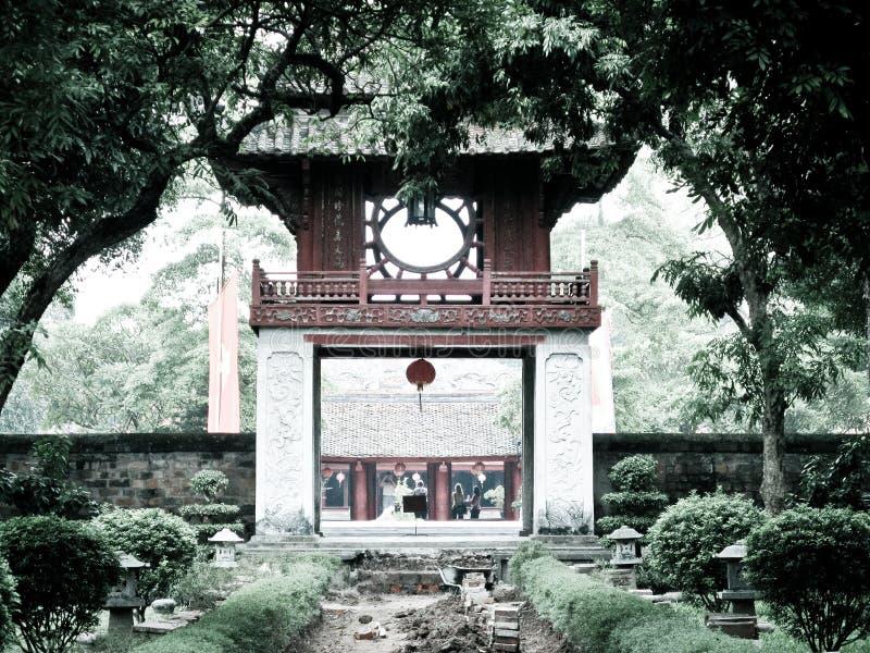 Templo de la literatura fotografía de archivo libre de regalías