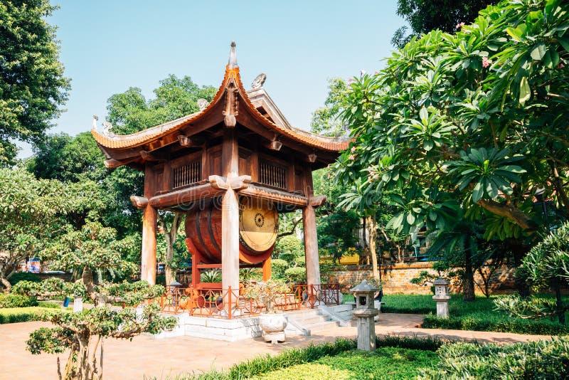 Templo de la literatura en Hanoi, Vietnam fotos de archivo libres de regalías