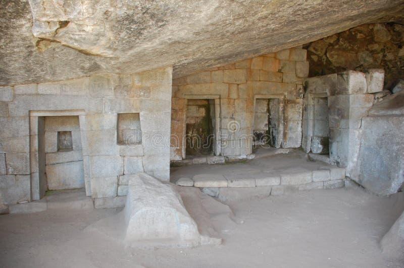 Templo de la luna en machu-picchu fotografía de archivo libre de regalías