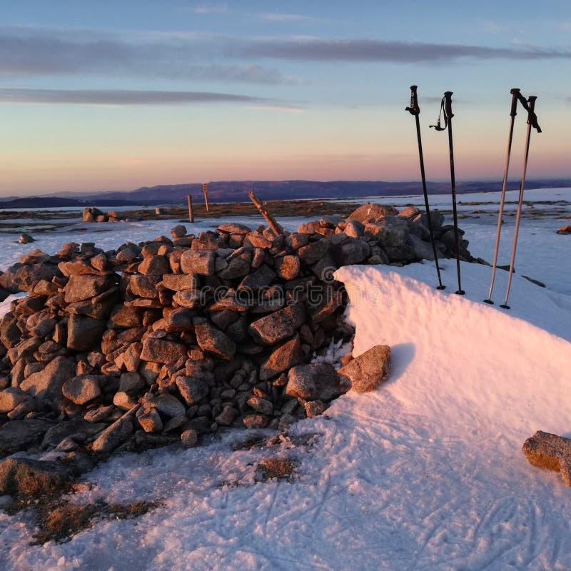 Templo de la nieve fotos de archivo libres de regalías
