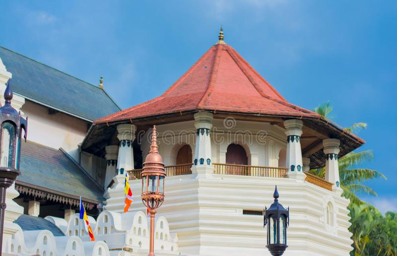 Templo de la reliquia sagrada del diente, Sri Lanka imágenes de archivo libres de regalías