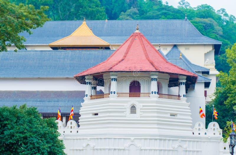 Templo de la reliquia sagrada del diente, Sri Lanka fotografía de archivo