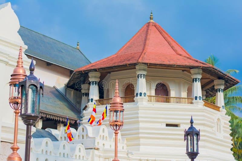 Templo de la reliquia sagrada del diente, Sri Lanka foto de archivo