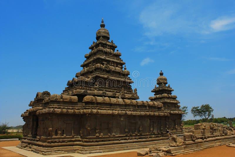 Templo de la roca en Mahabalipuram fotos de archivo
