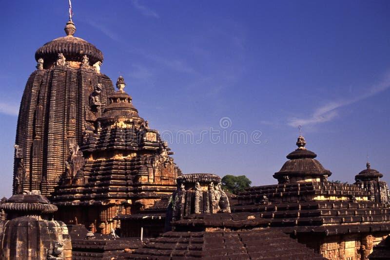Templo de Lingaraja, Bhubaneswar, Índia foto de stock royalty free