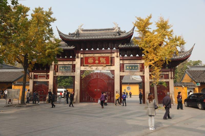 Templo de Longhua em Shanghai fotografia de stock royalty free