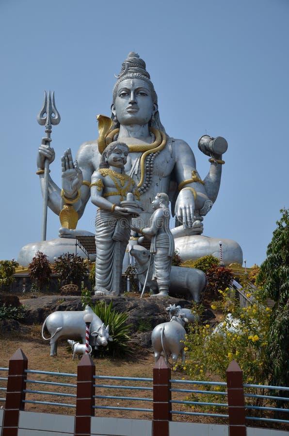 Templo de Lord Shiva, Karnataka, la India foto de archivo libre de regalías