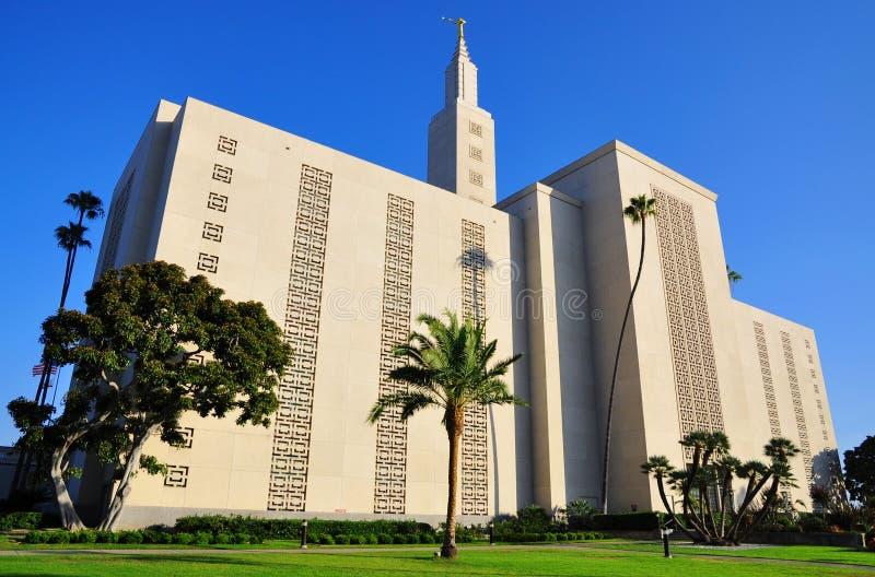 Templo de Los Angeles Califórnia do Mormon fotografia de stock royalty free