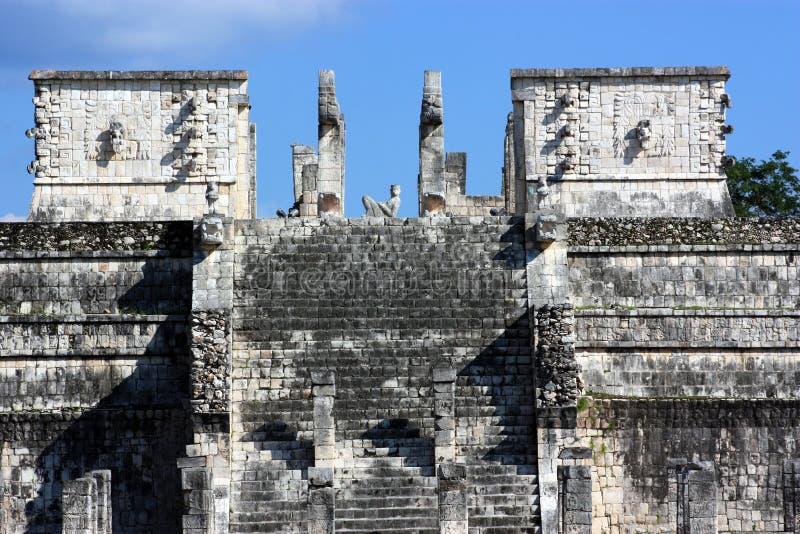 Templo de los guerreros imagenes de archivo