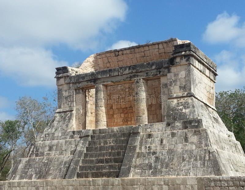 Templo DE Los Guerreros stock afbeelding