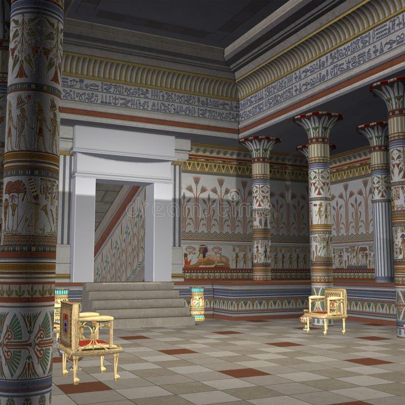 Templo de los Pharaohs stock de ilustración