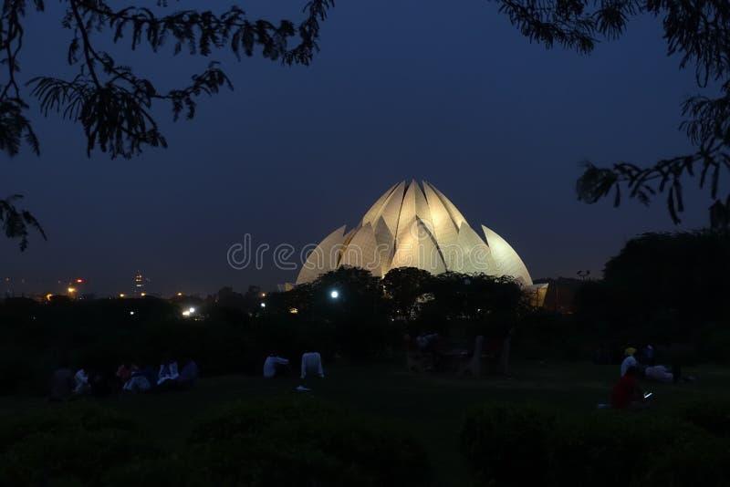 Templo de Lotus, lugar de alabanza de à del ¡de Bahà ', Delhi imagenes de archivo