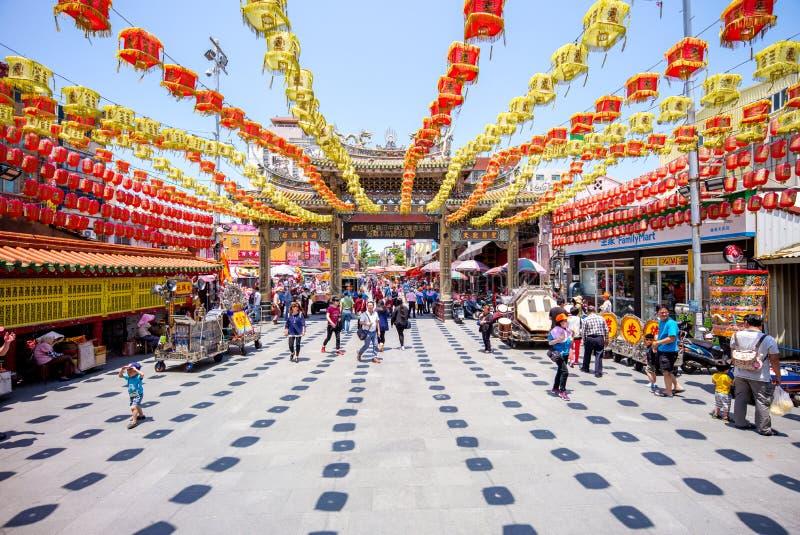 Templo de Lukang Mazu em changhua, Formosa imagem de stock