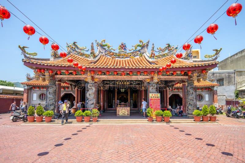 Templo de Lukang Mazu em changhua, Formosa imagens de stock