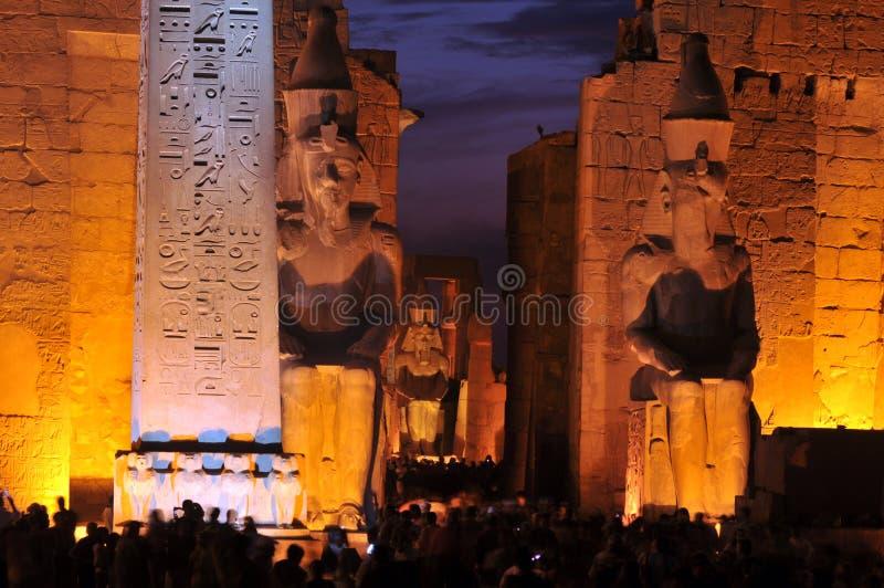 Templo de Luxor fotografia de stock royalty free